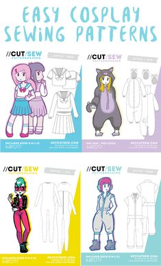Sewing patterns for cosplay that are made for beginners! cosplay - Sewing patterns for cosplay that are made for beginners! cosplay The Effective Pictu - Boys Sewing Patterns, Beginner Sewing Patterns, Sewing For Beginners, Sewing Tutorials, Sewing Projects, Free Sewing, Sewing Tips, Knitting Projects, Sewing Hacks