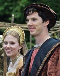 Scarlett Johansson as Mary Boleyn and Benedict Cumberbatch as William Carey in The Other Boleyn Girl Mary Boleyn, Anne Boleyn, Benedict Cumberbatch Sherlock, Sherlock Bbc, Downton Abbey, Tudor, Nathalie Portman, The Other Boleyn Girl, Benedict And Martin