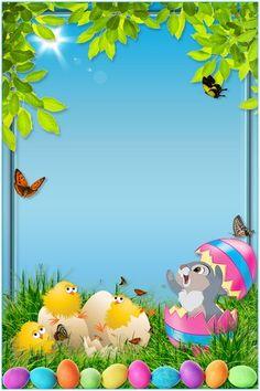 Boarder Designs, Page Borders Design, Homescreen Wallpaper, Cellphone Wallpaper, Happy Easter Wallpaper, Misty Night, Easter Backgrounds, Printable Frames, School Frame