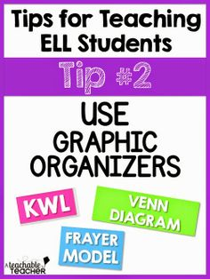 Tips for working with ELL and ESL students!