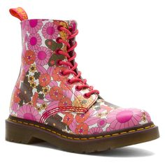 Dr. Martens  Women's 1460  Pascal Pink Daisy Floral Boots US 6 7 8 Retail $150! #DrMartens #FashionAnkle