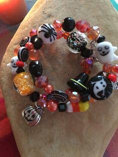 HALLOWEEN GLOW in the DARK Bracelet 2-Ghost by WhimsicalMystical