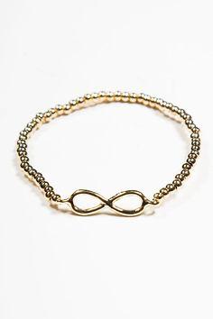 Brandy ♥ Melville | Gold Infinity Beaded Bracelet - Bracelets - Jewelry - Accessories