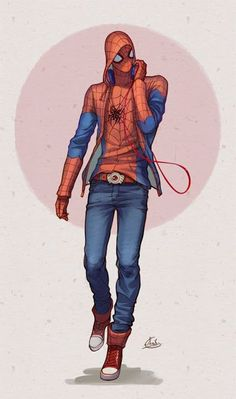 Spider-Teen // really cool look.