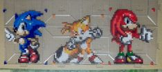 Victory - Sonic, 'Tails', and K-T-E perler beads by The-Original-Kopii on deviantart