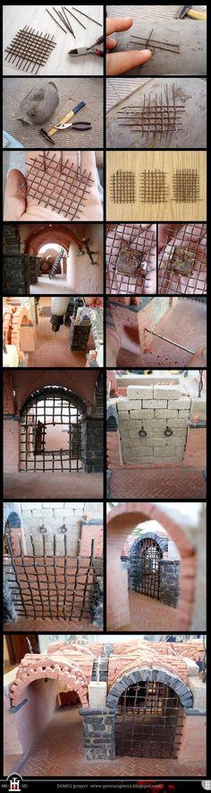 proyecto Domus 025-026-028: El cuerpo de guardia (parte I) http://pietrasupietra.blogspot.com/2012/05/construction-25-iron-railings.html: