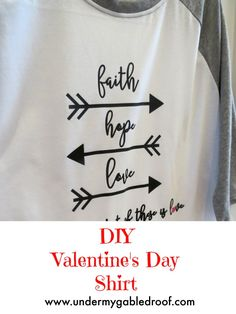 Check out this fun Valentine's Day DIY craft- a DIY raglan shirt using the Silhouette Cameo and HTV to make a fun holiday shirt that is a simple craft project.
