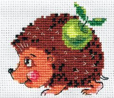 Instant Download Counted Cross Stitch PDF Pattern Miniature N11LD - Small Hedgehog on Etsy, $3.38