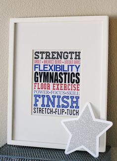 Looks like I have to re-do the girls room from Zebra print to GYMNASTICS :]] <3