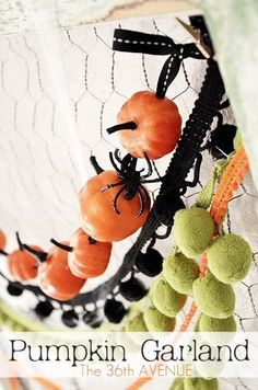 DIY Halloween Pumpkin Garland DIY Fall Crafts DIY Halloween Décor