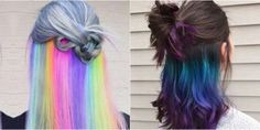 RIGHT SIDE The Secret Rainbow Hair Dye Trend — Surprise Hair Color Underneath