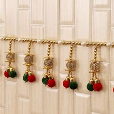 Graceful Stone Studded Hanging Bandhanwar Door Hanging Decorations, Diy Diwali Decorations, Wall Hanging Crafts, Diwali Craft, Diwali Diy, Diwali Gifts, Womens Day Gift Ideas, Same Day Delivery Gifts, Diy Tassel