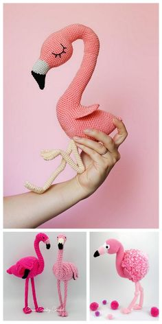 Amigurumi Flamingo Free Pattern - Amigurumi Daily Crochet Flamingo, Crochet Elephant Pattern, Crochet Horse, Flamingo Pattern, Crochet Amigurumi Free Patterns, Crochet Bunny, Free Crochet, Crochet Animals, Crochet Ideas