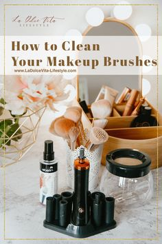 How To Clean Makeup Brushes, Brush Cleaner, Makeup Yourself, Blogging, Cleaning, Lifestyle, Bags, Handbags, Makeup Brush Cleaner