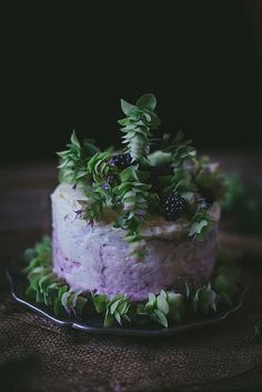 Oregano Honey Cake With Blackberry Buttercream + A Cookbook | Flickr - Photo Sharing!