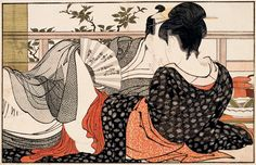Kitagawa Utamaro, Lovers in the Upstairs Room of a Teahouse, from Poem of the Pillow, 1788