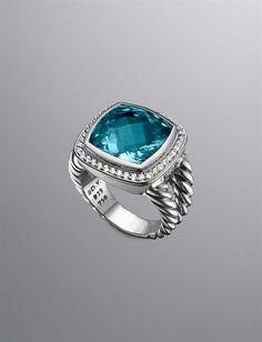 David Yurman | Women | Rings: 14mm Blue Topaz Albion Split-Shank Ring