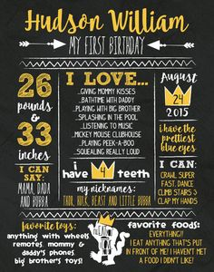 Where The Wild Things Are First Birthday Stats Poster Wild Things Chalkboard Stats Sign Chalkboard Wild Thing Milestone Sign Max Crown - Knox Baby Name - Ideas of Knox Baby Name - Where The Wild Things Are First Birthday Stats by KellyJoStudio Wild One Birthday Party, Baby Boy 1st Birthday, Birthday Board, First Birthday Parties, Birthday Ideas, First Birthday Sign, Planes Birthday, Birthday Photos, Birthday Gifts