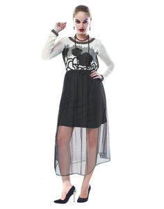 Inddus Exclusive Women Attractive Black Georgette Embroidered Kurti with sizes - S, M, L, XL.