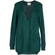 Forte_forte Cardigan (395 CAD) ❤ liked on Polyvore featuring tops, cardigans, emerald green, v neck cardigan, green cardigan, long sleeve v neck cardigan, long sleeve cardigan and forte forte