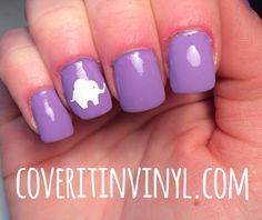 Elephant Nail Decals  Set of 50 by CoverItInVinyl on Etsy
