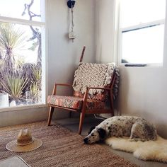 Kneeland Mercado rug draped over a chair in the home of Lily Stockman