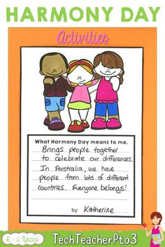Harmony Day activities for kids. Lots of different cultural activities for your primary school students including bulletin board ideas, worksheets, posters, word searches, maps and activities. Perfect for primary school teachers to find ways to create inclusive resources for your class. #harmonyday #teacherspayteacers #culturaldiversity #posters #worksheets #bulletinboardideas