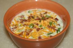 Taste Tested:  Outback Steakhouse� Potato Soup Recipe.  This is the same recipe I use and it's soooo good!