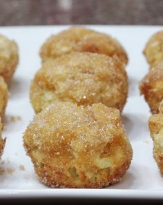 Why they are called baked apple donuts or donut holes, I have no idea. They are more of a sweet short bread. Muffins even.