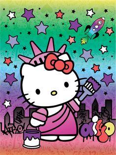 8217a3e59f1 Hello Kitty statue of liberty Hello Kitty Coloring, Hello Kitty Art, Sanrio Hello  Kitty