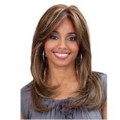 Made With Premium Synthetic Fiber, This Lace Front Wig By Bobbi Boss Looks Just Like Human Hair! Get The Glam Look With Bobbi Boss! Synthetic Lace Front Wigs, Synthetic Wigs, Medium Hair Styles, Natural Hair Styles, Long Hair Styles, Bobbi Boss Wigs, Beauty Hair Extensions, Hair Extensions Before And After, Layered Hair