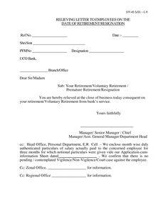 Simple Resignation Letter Sample Nit Letter Sample