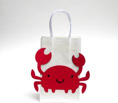 Crab Party Favor Goody Gift Bags  Under the Sea by CraftyCue, $40.00