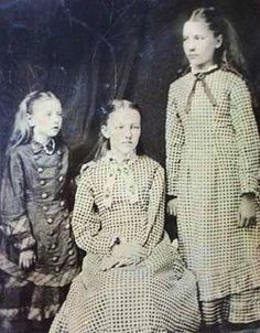 Wow! Look at this! In 1881, Laura Ingalls had her portrait taken with sisters Carrie and Mary -- perhaps just before Mary went away to the School for the Blind. It was the first photograph they sat for. Ma and Pa saw it as a treasure and a remembrance, the three girls together.