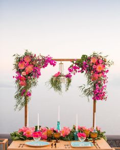 """Maria Sila στο Instagram: """"Pinks & turquoise/ bougainvillea & peonies... too much prettiness in this set up, captured by @wedtime_stories 💕🌸 Wedding design by us…"""" Bougainvillea Wedding, Wedding Flowers, Green Chandeliers, Greece Wedding, Pink Turquoise, Wedding Reception Decorations, Event Decor, Wedding Designs, Wedding Details"""