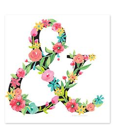 Loving this Floral Ampersand Print on #zulily! #zulilyfinds