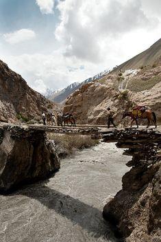 Bridge over the Boraq river . Afghanistan