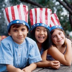 Your child can show her patriotic spirit this July 4th with a festive star-spangled hat.
