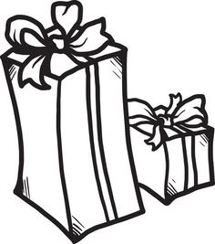 christmas presents coloring page 1 - Coloring Pages Christmas Presents