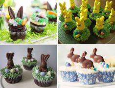 Cupcake de Pasqua (conills, ous i pollets) - totnens Cupcakes, Desserts, Food, Tailgate Desserts, Cupcake Cakes, Deserts, Essen, Postres, Meals