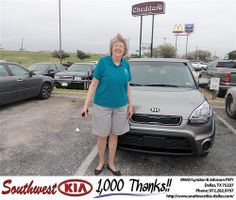 #HappyAnniversary to Bennie Riddle on your 2013 #Kia #Soul from Rudolph III at Southwest Kia Dallas!