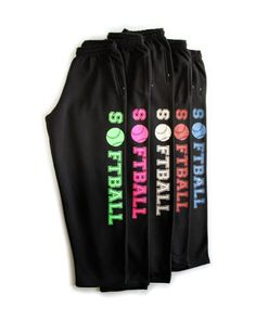 These cozy Comfy fleece Softball sweatpants have deep pockets for cell phones. They are Cotton / Poly Full sizing for rollover waist and baggy comfort. Check out more of our girls softball app Softball Gear, Softball Quotes, Softball Shirts, Girls Softball, Softball Players, Softball Stuff, Softball Workouts, Softball Coach, Softball Pics