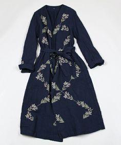45R Lady's / インディゴギマツイード刺繍コート(ステンカラーコート) - ZOZOTOWN