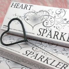 """Heart Shaped Wedding Sparklers, anyone? Cute, but they don't last very long. Need to pair with the 36"""" ones that last  3min 15sec."""