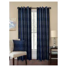 Curtain Panels Homewear Navy Geometric, Blue