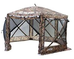Clam Outdoors Quick-Set Pavilion Portable Camping Outdoor Canopy Shelter Screen, Camouflage at Lowe's. Rain or shine, enjoy the outdoors in your Clam Quick Set Pavilion Portable Outdoor Gazebo Canopy Shelter.Ideal for camping, picnics, and sporting Gazebo On Deck, Gazebo Canopy, Canopy Outdoor, Canopies, Camping Chairs, Tent Camping, Canopy Shelter, Camping Shelters, Tent Stakes