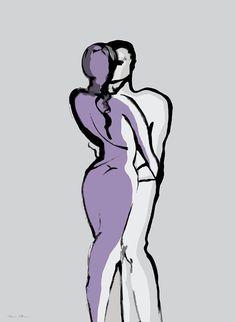 Kiss Digital Art by Nomi Elboim