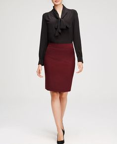 Textured Pencil Skirt | Ann Taylor
