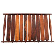 Slatted Rosewood Tray by Jens Quistgaard for Dansk | From a unique collection of antique and modern tableware at https://www.1stdibs.com/furniture/dining-entertaining/tableware/