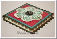 Post-it Note holder using CTMH Art Philosophy card feature ~ Pamela O'Connor